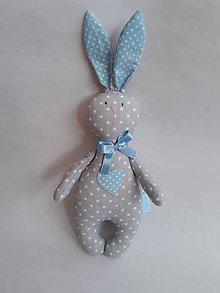 Hračky - Zajac - hračka - modrá - 10503042_