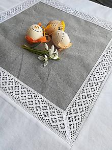 Úžitkový textil - Obrus s krajkou - 10501054_