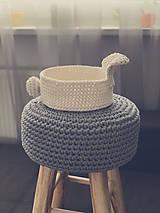Košíky - Háčkovaný kôš v tvare zajačika. - 10501969_
