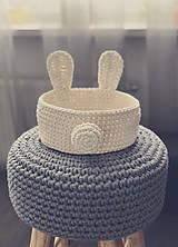 Košíky - Háčkovaný kôš v tvare zajačika. - 10501989_