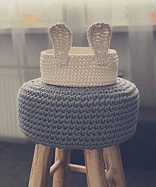 Košíky - Háčkovaný kôš v tvare zajačika. - 10501970_