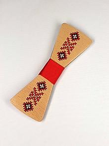 Doplnky - Pánsky drevený motýlik - 10503031_