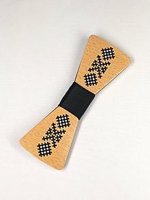 Doplnky - Pánsky drevený motýlik - 10503047_