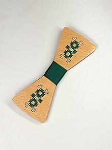 Doplnky - Pánsky drevený motýlik - 10503066_