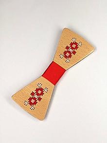 Doplnky - Pánsky drevený motýlik - 10503076_