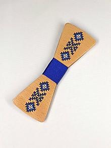 Doplnky - Pánsky drevený motýlik - 10503103_
