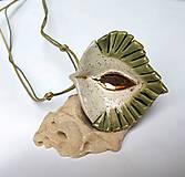 Náhrdelníky - Keramický šperk zo zlatom. - 10502946_
