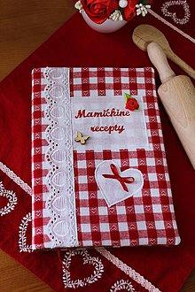 Papiernictvo - Receptár-zápisník..s textilným obalom.. - 10501439_