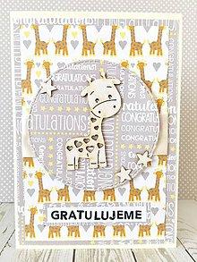 Papiernictvo - Pohľadnica k narodeniu dieťaťa - 10502035_