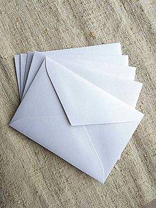 Papier - Obálka biela perleťová C7 - 10501264_