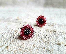 Náušnice - Slniečka mini ružové - 10501297_