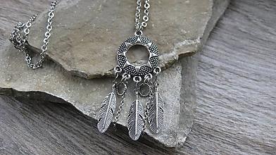 Náhrdelníky - Indiánsky náhrdelník dlhý, č. 2593 - 10502558_
