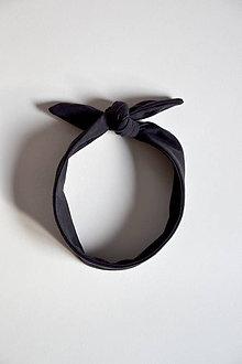 Ozdoby do vlasov - Čelenka retro (Čierna) - 10501685_