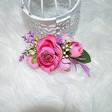 Ozdoby do vlasov - Hrebienok- ružová jar - 10502891_