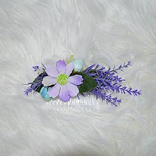 Ozdoby do vlasov - Hrebienok- fialkovomodrý - 10502898_