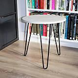Nábytok - betónový stolik - 10501114_