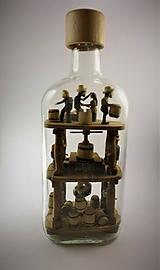 Dekorácie - Fľaša trpezlivosti - 10503664_