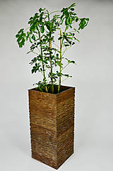 Nádoby - Drevený kvetináč - ALNUS L - 10500573_