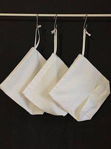 Úžitkový textil - Vrecúško možno aj na desiatu- biele - 10500857_