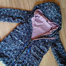Detské oblečenie - Detská prechodná bunda s kvetmi - 10502136_