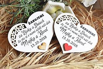 Darčeky pre svadobčanov - Svadobné magnetky - 10503347_