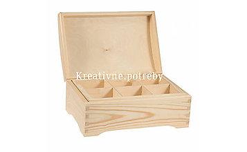Polotovary - Truhlica 30x20cm s vyberateľným priečinkom - 10503059_