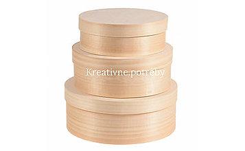 Polotovary - Set 3 okrúhlych krabičiek - 10503110_