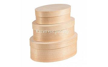 Polotovary - Set 3 oválnych krabičiek - 10503124_