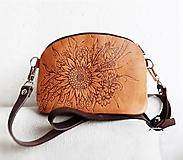 """Kabelky - PETIT """"Botanica2"""" mini kabelka s vypaľovaným obrázkom - 10502431_"""