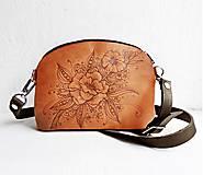 """Kabelky - PETIT """"Botanica1"""" mini kabelka s vypaľovaným obrázkom - 10502533_"""