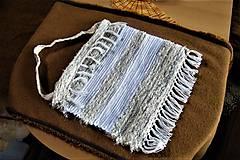 Iné tašky - Tkaná taška bielo-sivo-béžová - 10500546_