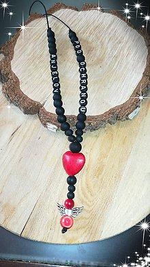 Iné šperky - Prívesok alebo amulet do auta na želanie s textom menom alebo dátumom aj farebne podla vašeho priania použite - 10507706_