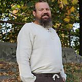Oblečenie - Konopná košeľa Horislaw s viazaním - 10505618_