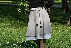 Sukne - Ľanová sukňa Jara - 10505995_