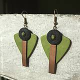 Náušnice - Jarná kolekcia / Zelené trojuholníky ) - 10507385_