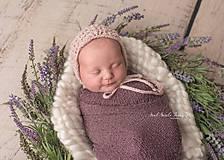 Detské čiapky - Čiapka pre novorodenca - 10505789_