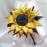 Detské doplnky - Zlato čierna čelenka - 10506705_