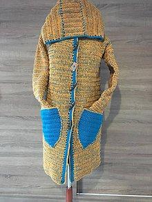 Svetre/Pulóvre - Farebný háčkovaný kabátik - 10505119_