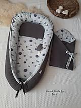 Textil - AKCIA : Dizajnová jarno/letná zavinovačka  - sivé vafle / sivé planétky - 10504449_