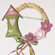 Dekorácie - Venček na dvere - Za ružovým kríčkom ♥ - 10506849_