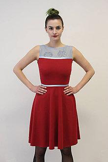 Šaty - VERA Rudá - šaty - 10504212_