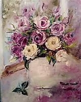 Obrazy - Ruže v okne - 10506880_