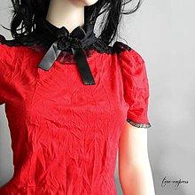 Topy - Červený gotický top - 10503949_