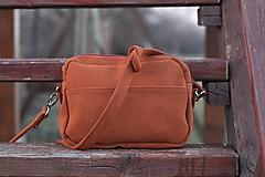 Mini kabelka - tehlovo hnedá