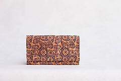- Dámska korková peňaženka - modrý ornament - 10506192_
