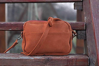 Kabelky - Mini kabelka - tehlovo hnedá - 10505213_