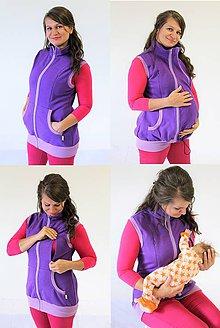 Tehotenské oblečenie - Dojčiaca a Tehotenská VESTA - SILNÁ POČESANÁ TEPLÁKOVINA 100%Ba - 10504780_