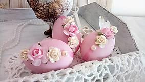 Dekorácie - sada 3 ks veľkonočných vajíčok - 10504181_