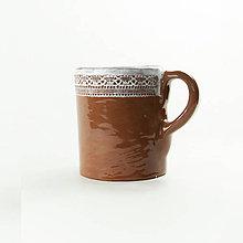 Nádoby - Pohár keramický folkový 0,25 dl - 10507648_