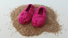 Obuv - Vyhrievané papuče /Papuče na ohrievanie v mikrovlnke TERMOFOR na nohy z obilia - 10506476_